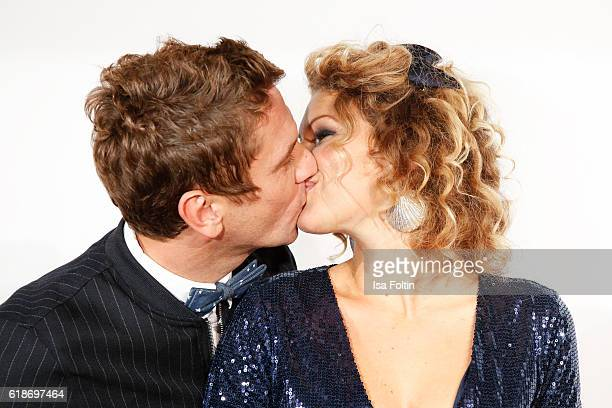 German actor Peer Kusmagk and his girlfriend Janni Hoenscheid starting for SchleswigHolstein attend the 'Deutschland tanzt' photo call at Soho House...