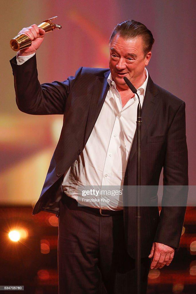 German actor Peter Kurth during the Lola - German Film Award (Deutscher Filmpreis) 2016 - Show on May 27, 2016 in Berlin, Germany.