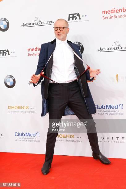 German actor Peter Lohmeyer during the Lola German Film Award red carpet arrivals at Messe Berlin on April 28 2017 in Berlin Germany