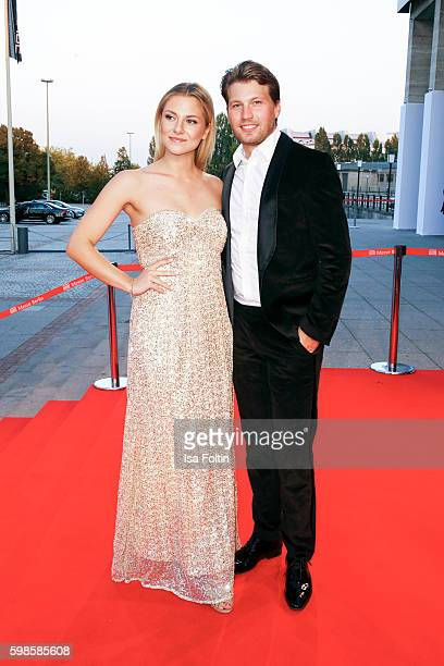 German actor Raul Richter and his girlfriend german actress Valentina Pahde attend the IFA 2016 opening gala on September 1 2016 in Berlin Germany