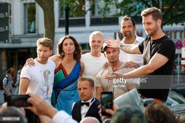 German actor Raul Richter model Mario Galla Lilly Becker German presenter Oliver Pocher German singer Pietro Lombardi former DDR soccer player Ulf...