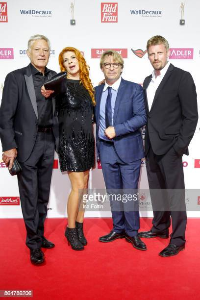German actor Ruediger Joswig with his wife German actress Claudia Wenzel German actor Andre Eisermann and German actor Martin Gruber attend the...