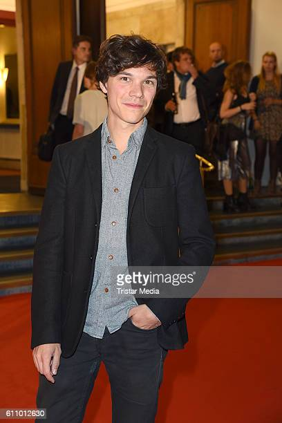 German actor Sebastian Urzendowsky attends the 'FRANTZ' German Premiere at Delphi on September 28 2016 in Berlin Germany