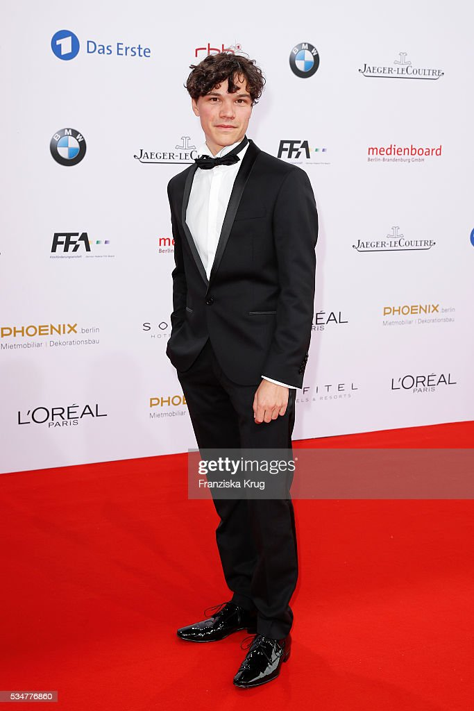 German actor Sebastian Urzendowsky during the Lola German Film Award (Deutscher Filmpreis) 2016 on May 27, 2016 in Berlin, Germany.