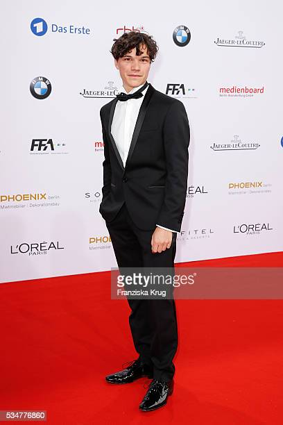 German actor Sebastian Urzendowsky during the Lola German Film Award 2016 on May 27 2016 in Berlin Germany