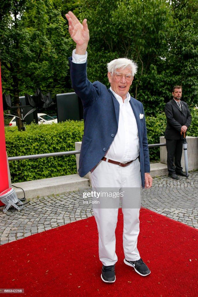 German actor Siegfried Rauch attends the Bayerischer Fernsehpreis 2017 at Prinzregententheater on May 19, 2017 in Munich, Germany.