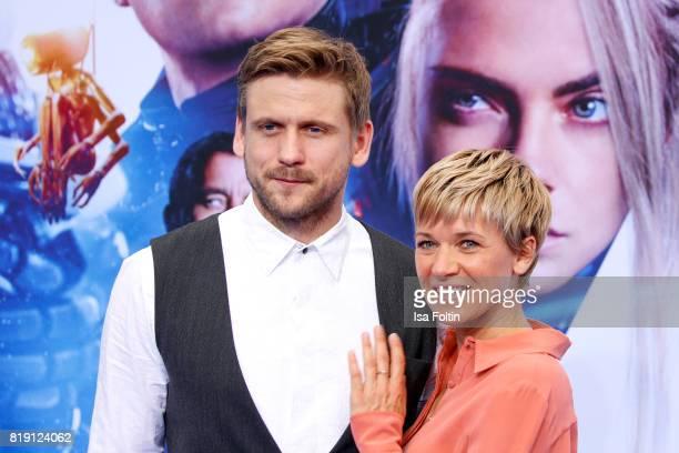 German actor Steve Windolf and his girlfriend Kerstin Landsmann during the 'Valerian Die Stadt der Tausend Planeten' premiere at CineStar on July 19...