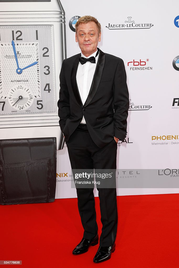 German actor <a gi-track='captionPersonalityLinkClicked' href=/galleries/search?phrase=Sylvester+Groth&family=editorial&specificpeople=4102156 ng-click='$event.stopPropagation()'>Sylvester Groth</a> during the Lola German Film Award (Deutscher Filmpreis) 2016 on May 27, 2016 in Berlin, Germany.