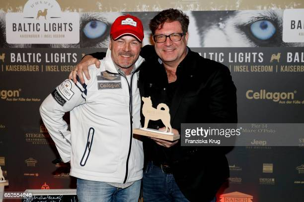 German actor Till Demtroeder and german actor Francis FultonSmith attend the 'Baltic Lights' charity event on March 11 2017 in Heringsdorf Germany...