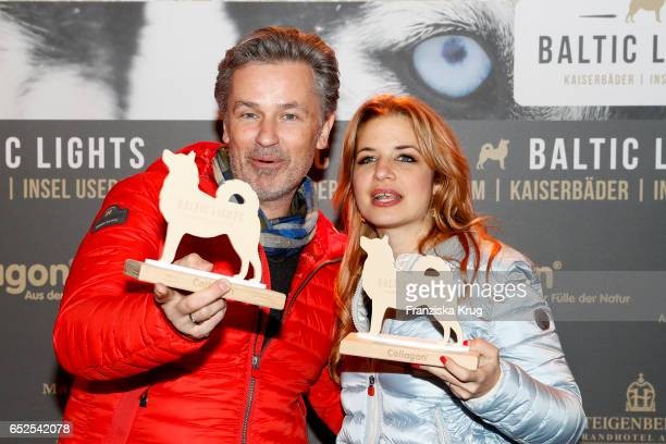 German actor Timothy Peach and german actress Susan Sideropoulos attend the 'Baltic Lights' charity event on March 11 2017 in Heringsdorf Germany...