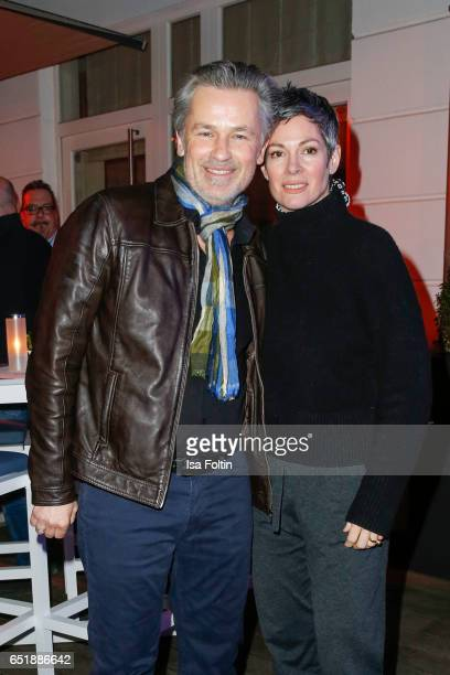 German actor Timothy Peach and US actress Cheryl Shepard attend the 'Baltic Lights' charity event on March 10 2017 in Heringsdorf Germany Every year...