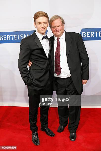 German actor Timur Bartels and his father attend the Bertelsmann Summer Party at Bertelsmann Repraesentanz on September 8 2016 in Berlin Germany