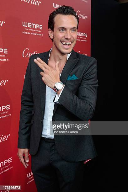 German actor Tobias van Dieken arrive for the 'League of Gentlemen' launch of the Calibre de Cartier chronograph at Heart Club on July 11 2013 in...