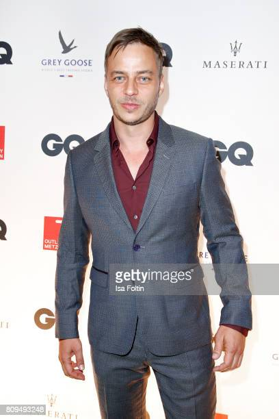 German actor Tom Wlaschiha attends the GQ Mension Style Party 2017 at Austernbank on July 5 2017 in Berlin Germany