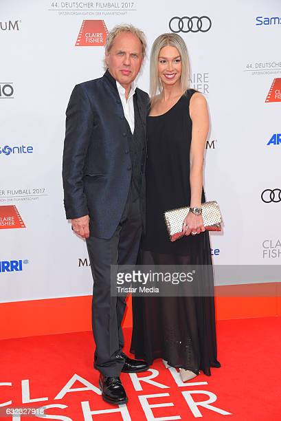German actor Uwe Ochsenknecht and girlfriend Kirsten Kiki Viebrock attend the German Film Ball 2017 at Hotel Bayerischer Hof on January 21 2017 in...