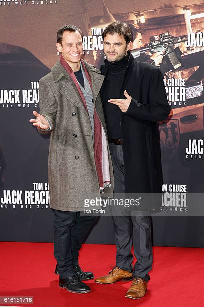 German actor Vinzenz Kiefer and german actor Lenn Kudrjawizki attend the 'Jack Reacher Never Go Back' Berlin Premiere at CineStar Sony Center...