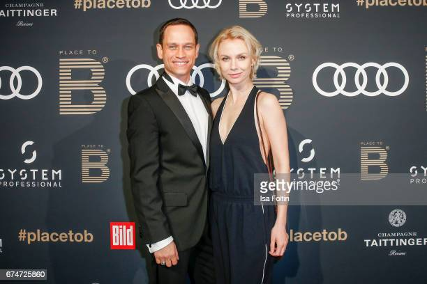 German actor Vinzenz Kiefer and his partner Masha Tokareva attend the Place To Be Party after the Lola German Film Award on April 28 2017 in Berlin...