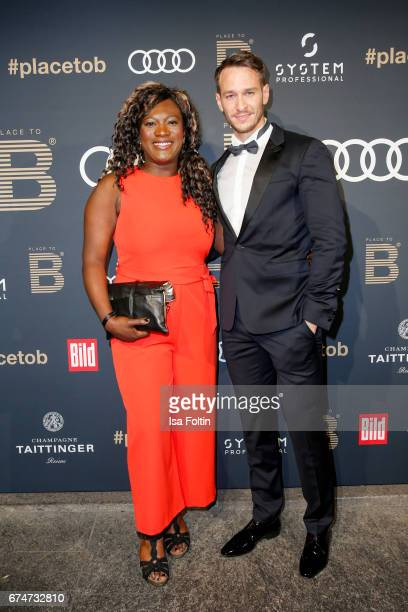 German actor Vladimir Burlakov and his girlfriend Thelma Buabeng attend the Place To Be Party after the Lola German Film Award on April 28 2017 in...