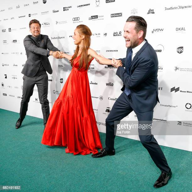 German actor Wayne Carpendale with his wife German presenter Annemarie Carpendale and german presenter Matthias Killing attend the GreenTec Awards at...
