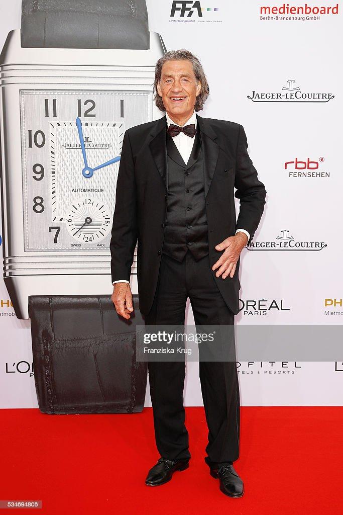 German actor Winfried Glatzender during the Lola - German Film Award (Deutscher Filmpreis) 2016 on May 27, 2016 in Berlin, Germany.