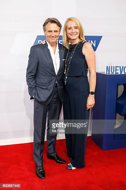 German actor Wolfgang Bahro and his wife Barbara Bahro attend the Bertelsmann Summer Party at Bertelsmann Repraesentanz on September 8 2016 in Berlin...