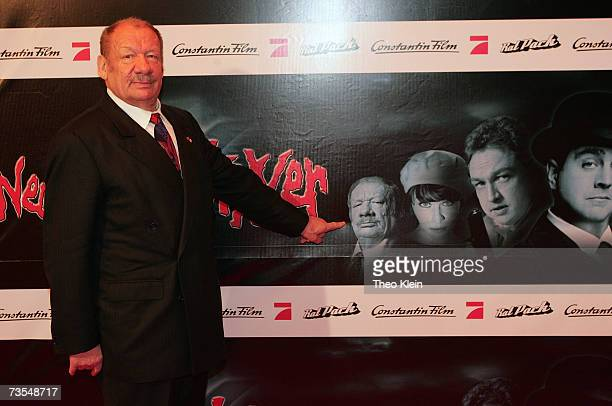 German Actor Wolfgang Voelz arrives on the red carpet for the Premiere of the film 'Neues vom Wixxer' at the cinema Mathaeser Filmpalast on March 11...