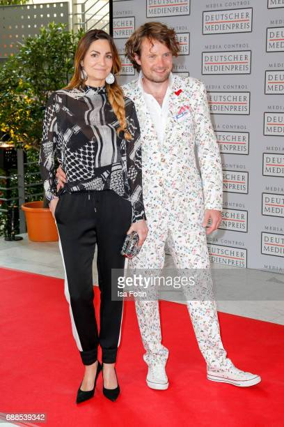 German actress Alexandra Kamp and her boyfriend photographer Michael von Hassel during the German Media Award 2016 at Kongresshaus on May 25 2017 in...