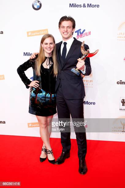 German actress Alicia von Rittberg and german actor and award winner Jannis Niewoehner attend the Jupiter Award at Cafe Moskau on March 29 2017 in...
