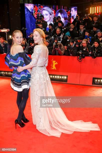 German actress Alina Levshin and german actress Franziska Petri attend the 'Django' premiere during the 67th Berlinale International Film Festival...