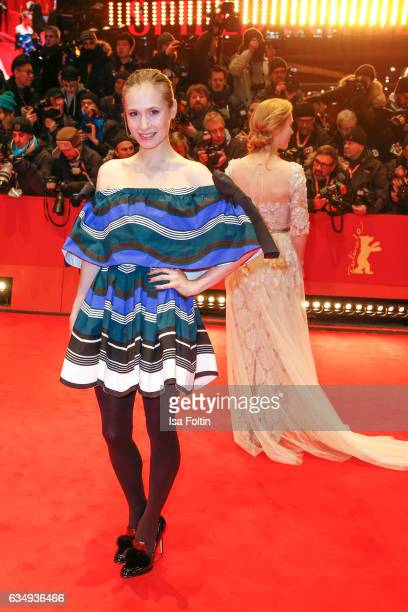German actress Alina Levshin attends the 'Django' premiere during the 67th Berlinale International Film Festival Berlin at Berlinale Palace on...