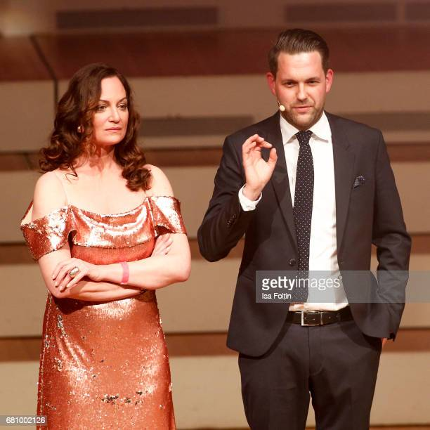 German actress and award winner Natalia Woerner and german presenter Matthias Killing during the Victress Awards Gala on May 8 2017 in Berlin Germany