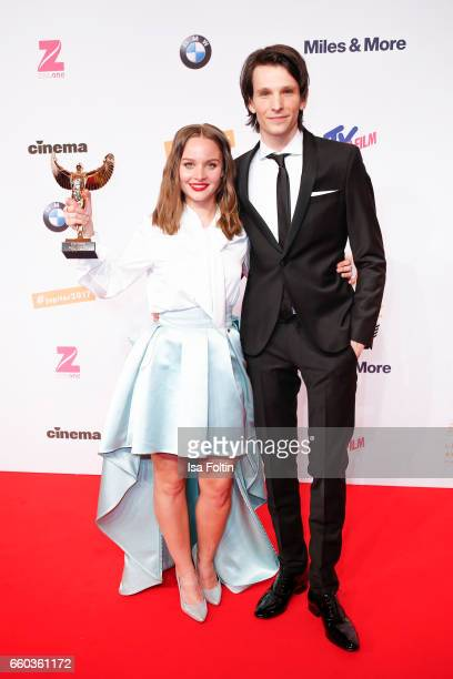 German actress and award winner Sonja Gerhardt and german actor Sabin Tambrea attend the Jupiter Award at Cafe Moskau on March 29 2017 in Berlin...