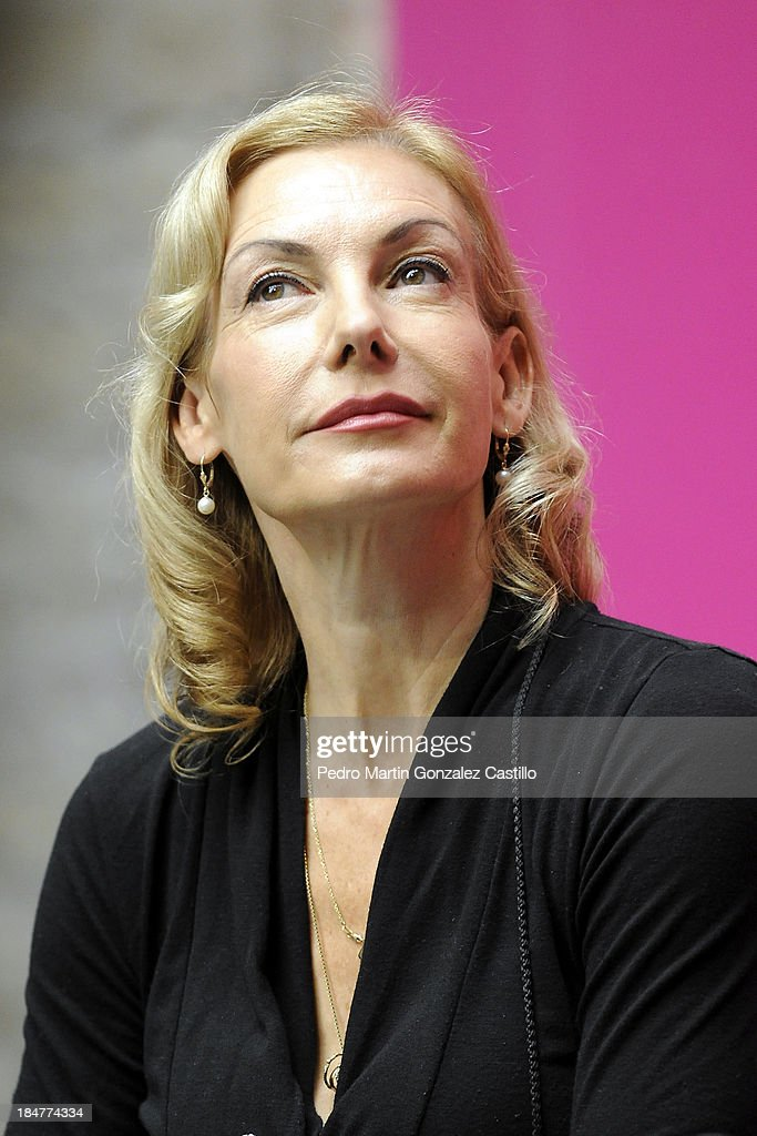 German actress and dancer <a gi-track='captionPersonalityLinkClicked' href=/galleries/search?phrase=Ute+Lemper&family=editorial&specificpeople=644157 ng-click='$event.stopPropagation()'>Ute Lemper</a> during a press conference during the 41º Edition of the International Guanajuato Cervantino Festival on October 15, 2013 in Guanajuato, Mexico.