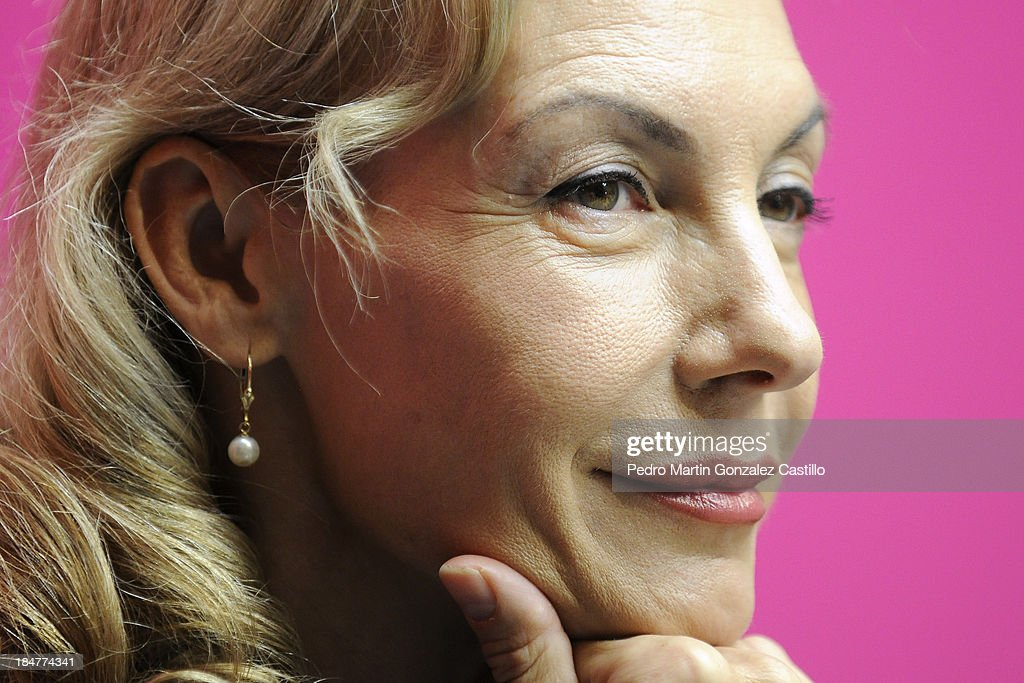German actress and dancer Ute Lemper during a press conference during the 41º Edition of the International Guanajuato Cervantino Festival on October 15, 2013 in Guanajuato, Mexico.