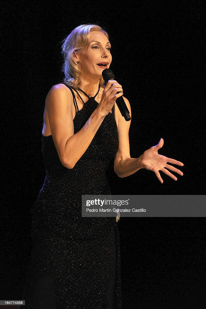 German actress and dancer <a gi-track='captionPersonalityLinkClicked' href=/galleries/search?phrase=Ute+Lemper&family=editorial&specificpeople=644157 ng-click='$event.stopPropagation()'>Ute Lemper</a> performs during the 41º Edition of the International Guanajuato Cervantino Festival on October 15, 2013 in Guanajuato, Mexico.