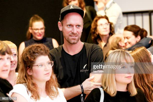 German actress and influencer Daniel Termann attends the Clich'e Bashing 'Beef mit den Veggies' at DRIVE Volkswagen Group Forum on October 12 2017 in...