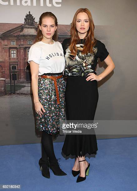 German actress and model Alicia von Rittberg and german actress Emilia Schuele attend the photocall for the new event series 'Charite' at East Hotel...