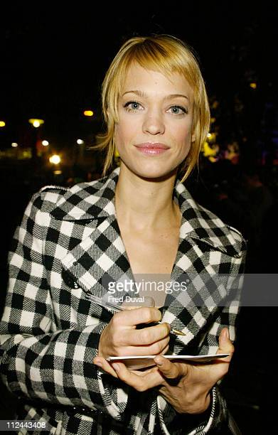 German actress and MTV VJ Heike Makatsch during 2003 London Film Festival 'Silvia' UK Premier in London United Kingdom