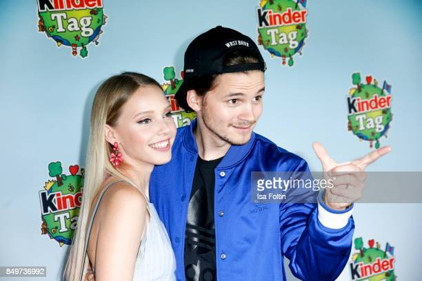 German actress and singer Lina Larissa Strahl and her boyfriend Tilman Poerzgen during the KinderTag to celebrate children's day on September 19 2017...