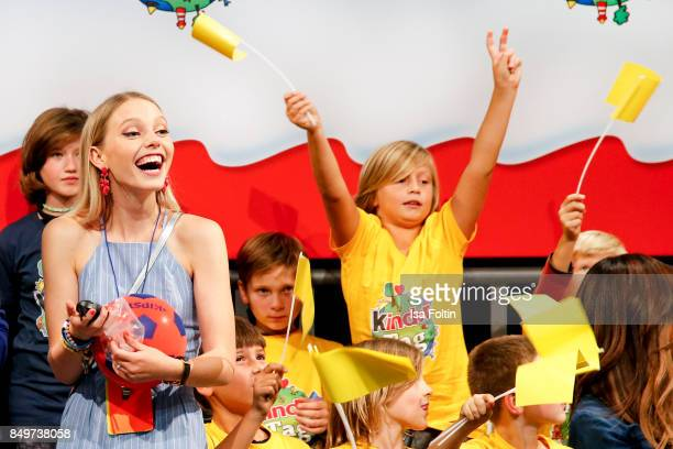German actress and singer Lina Larissa Strahl during the KinderTag to celebrate children's day on September 19 2017 in Berlin Germany