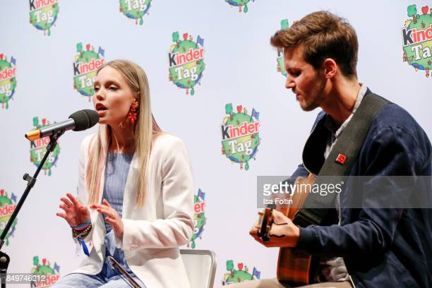 German actress and singer Lina Larissa Strahl performs during the KinderTag to celebrate children's day on September 19 2017 in Berlin Germany