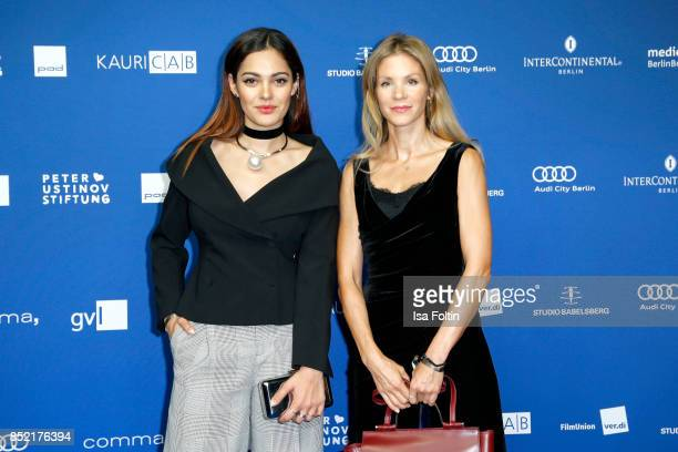 German actress and video blogger Nilam Farooq and German actress Nina Gnaedig during the 6th German Actor Award Ceremony at Zoo Palast on September...
