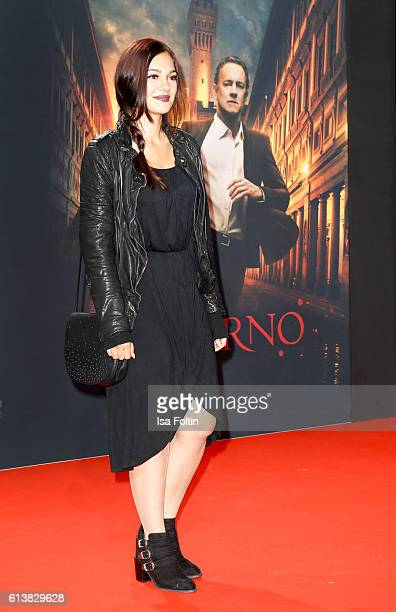 German actress and video blogger Nilam Farooq attends the German premiere of the film 'INFERNO' at Sony Centre on October 10 2016 in Berlin Germany