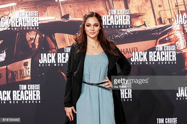 German actress and video blogger Nilam Farooq attends the 'Jack Reacher Never Go Back' Berlin Premiere at CineStar Sony Center Potsdamer Platz on...