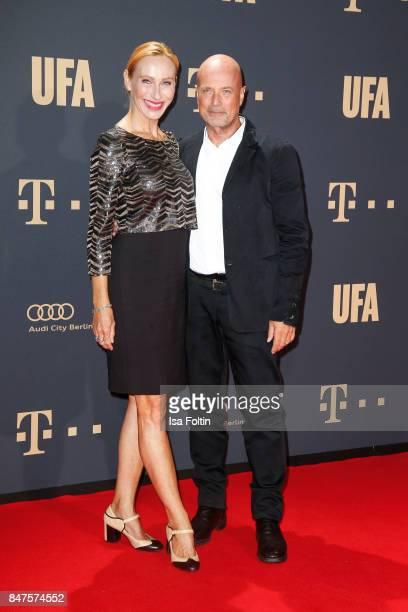 German actress Andrea Sawatzki and her husband German actor Christian Berkel attend the UFA 100th anniversary celebration at Palais am Funkturm on...