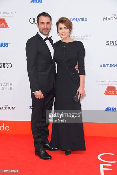 German actress Anja Kling and her boyfriend Oliver Haas attend the German Film Ball 2017 at Hotel Bayerischer Hof on January 21 2017 in Munich Germany