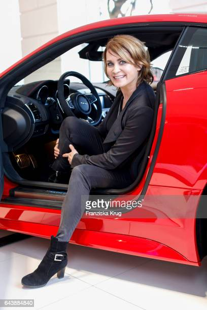 German actress Anja Kling attends the Jaguar X Juniqe Art Salon opening on February 22 2017 in Munich Germany