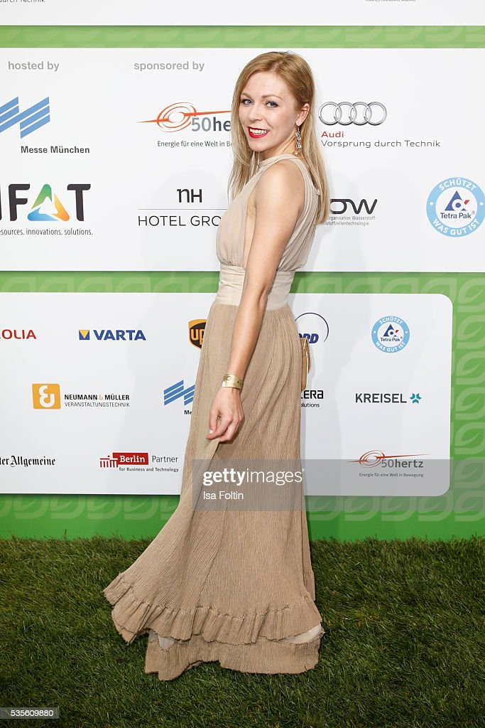 German actress Anna Ewelina attends the Green Tec Award at ICM Munich on May 29, 2016 in Munich, Germany.
