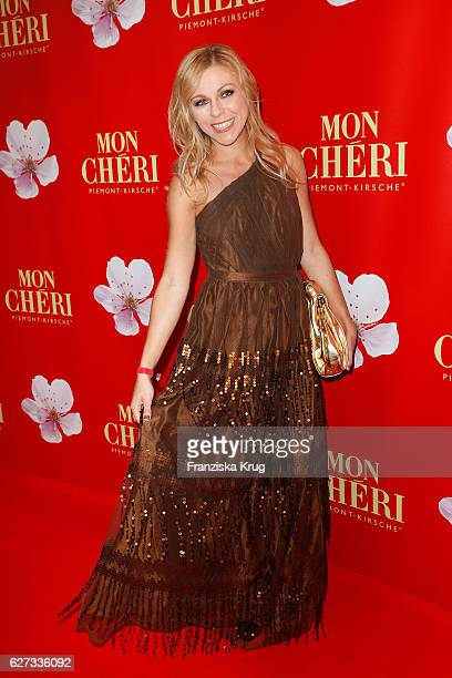 German actress Anna Ewelina attends the Mon Cheri Barbara Tag at Postpalast on December 2 2016 in Munich Germany