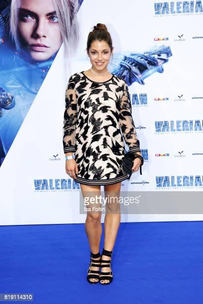 German actress Anna Julia Kapfelsperger during the 'Valerian Die Stadt der Tausend Planeten' premiere at CineStar on July 19 2017 in Berlin Germany